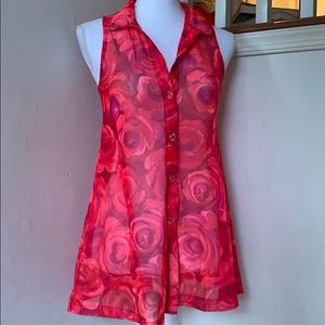 Girls Rose Bathing Suit Cover Up